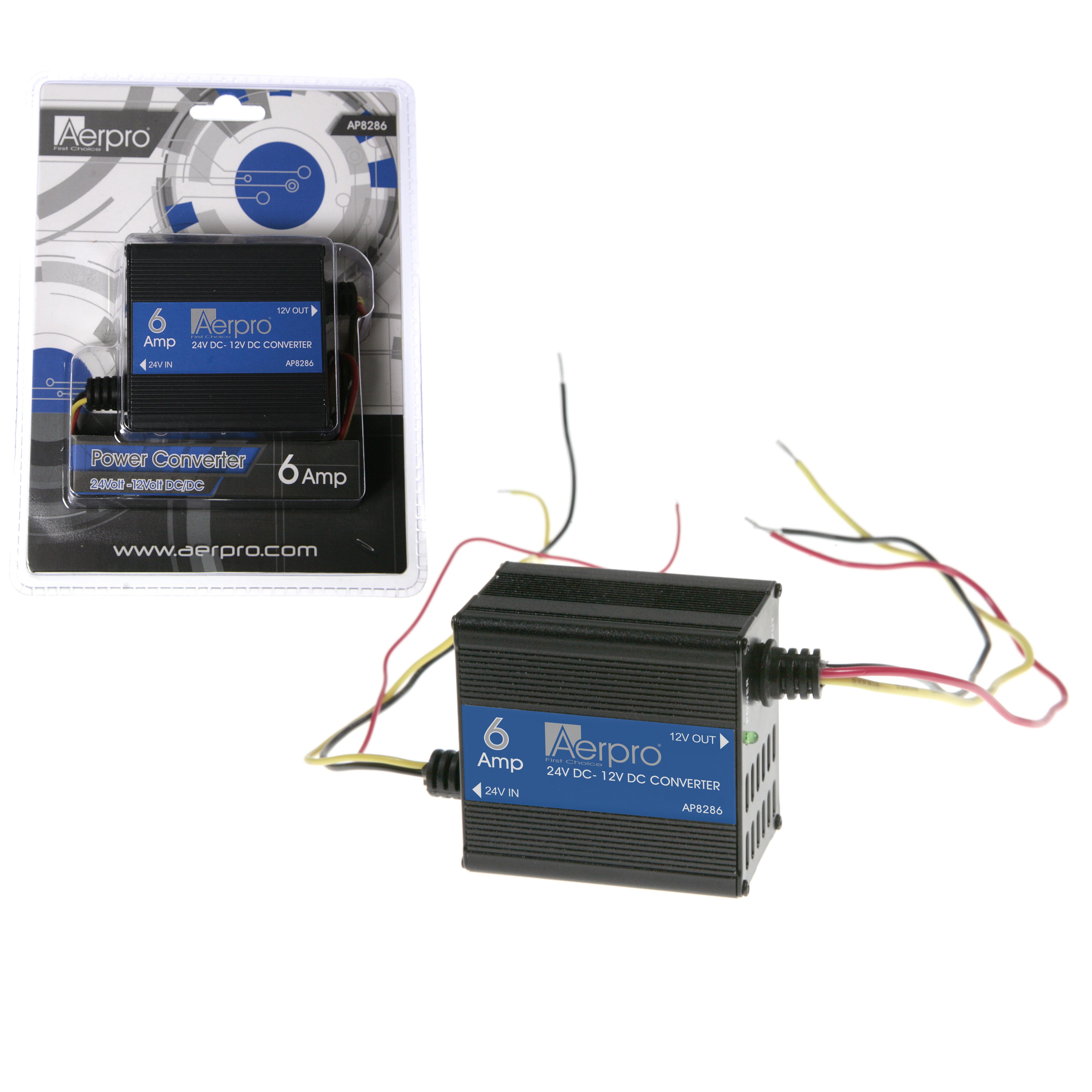 Aerpro First Choice 6 To 12 Volt Converter Ap8286 24v 12v Reducer 6a