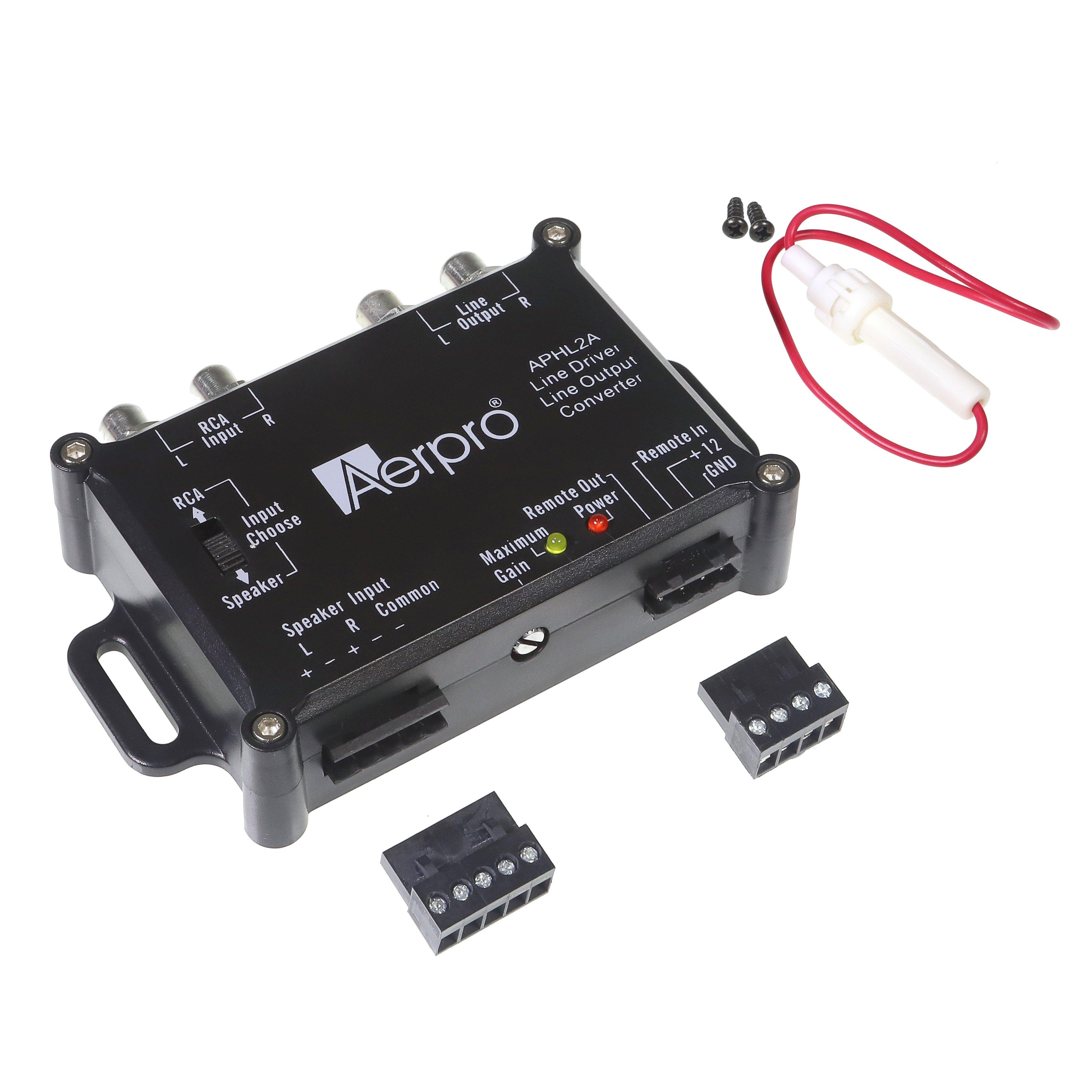 Hi Low Converters Aerpro Adjustable Line Output Converter Lo Out Aphl2a 2 Channel Loc Rca Driver