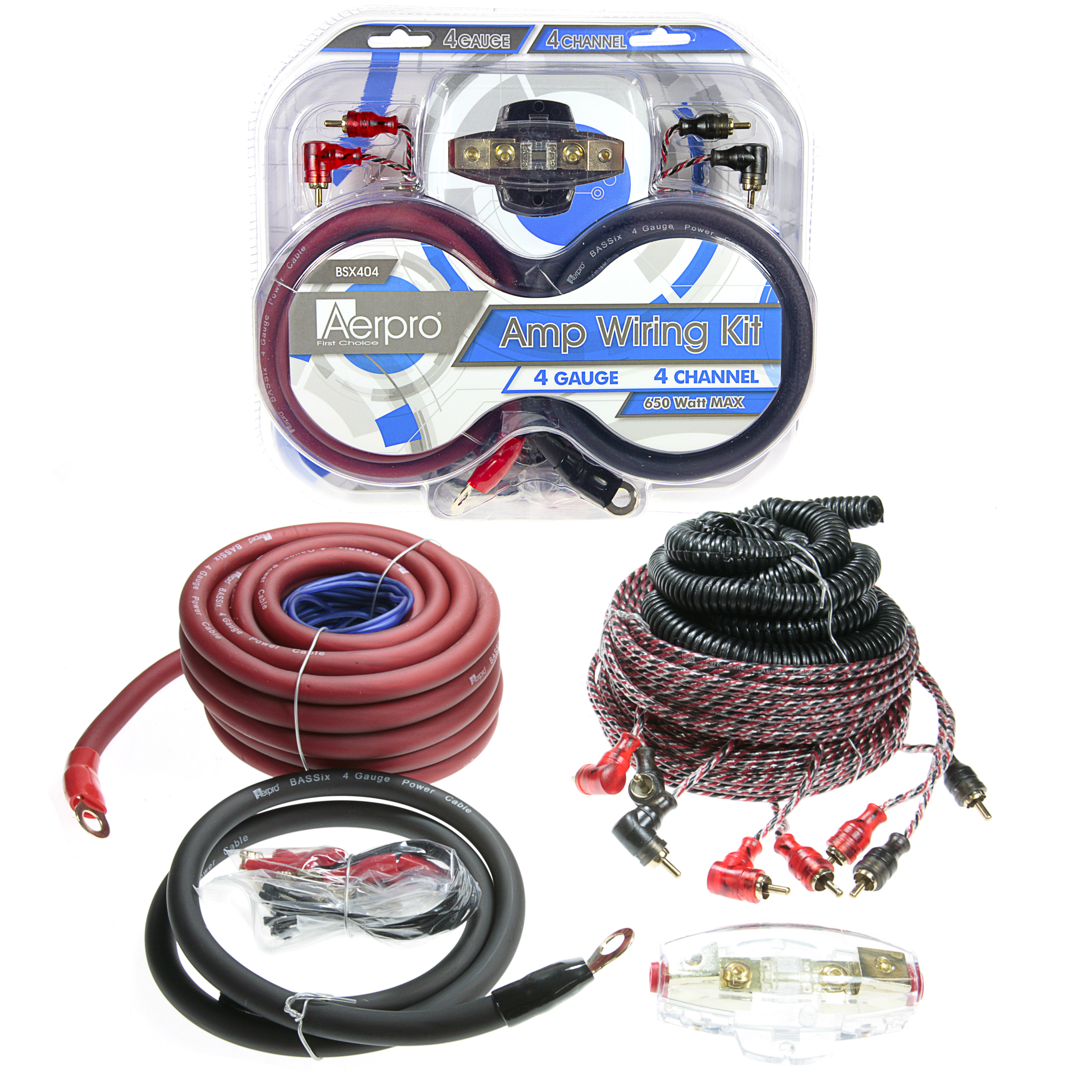 Aerpro First Choice 4 Gauge Amplifier Wiring Kit Bsx404 Bassix 4ga Channel Amp Install