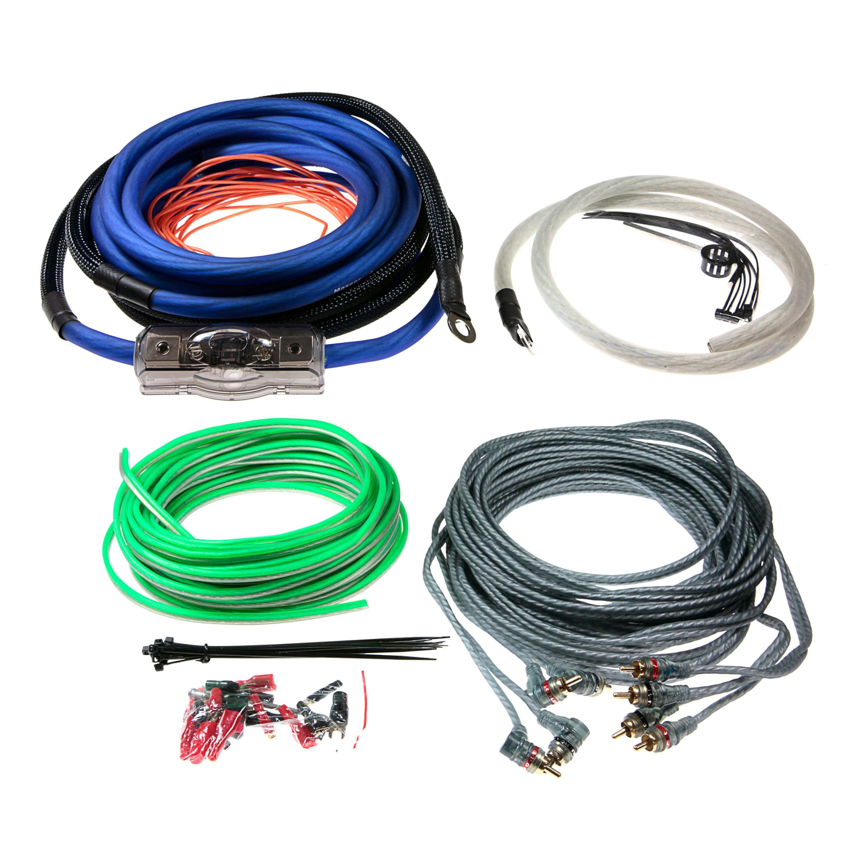 Aerpro First Choice Pro 4 Gauge Amplifier Amp Install Wiring Kit Complete Car Audio Cables Mx44 Maxcor 4awg Channel