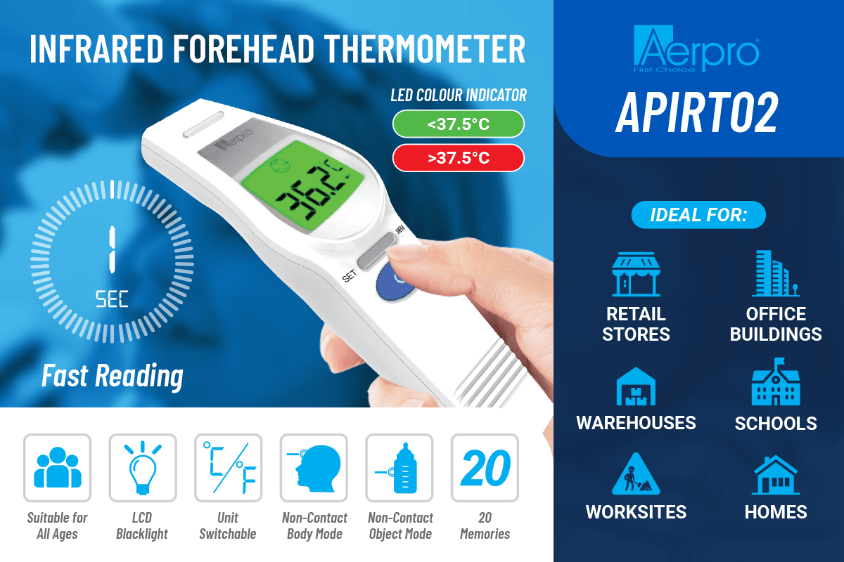 Featured item - Aerpro APIRT02 - Infrared Thermometer