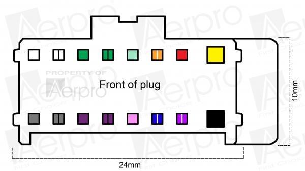 Pioneer Wiring Harness Diagram 16 Pin from aerpro.com
