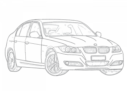 Car Headlight Drawing, Car, Free Engine Image For User