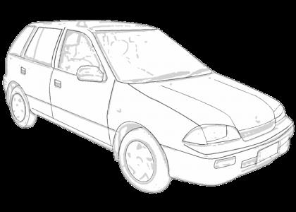 Holden Barina 19891994 MF MH  Aerpro