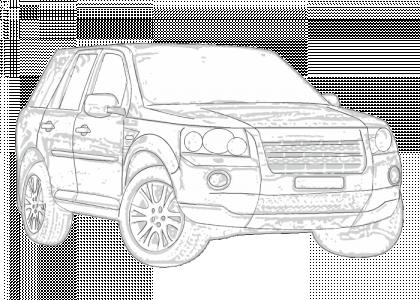 ClimAir D/éflecteurs lat/éraux sur Mesure pour Landrover Freelander II 2007-2014