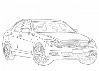 Mercedes c class 2007 2013 w204 on car antenna design
