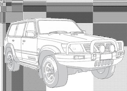 Nissan Patrol 1997-2009 GU   Aerpro on