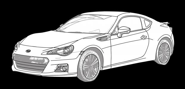 Subaru BRZ 2017 On Double Single Din Car Stereo Facia Fitting Kit