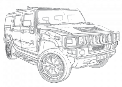 Hummer h2 2003 2008 on car door wiring harness