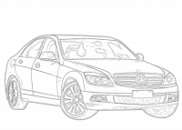 Deflettori aria per Mercedes C-Klasse S203 W203 Pre-Facelift 2000-2004 T-ModelAD